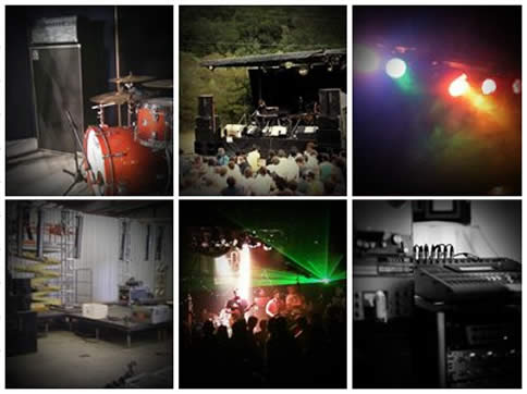 Various Gigs - backline, sound systems, lighting and staging